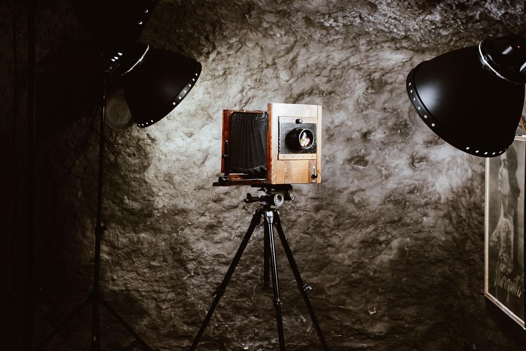 cámara de fotografía vintage del siglo XIX